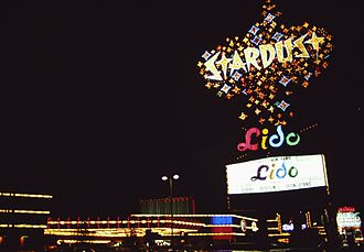 Stardust Resort and Casino - Stardust sign as seen in 1990