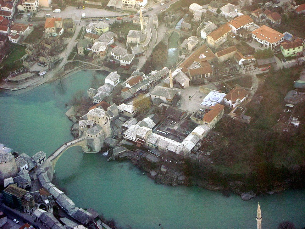 Stari Most from the air