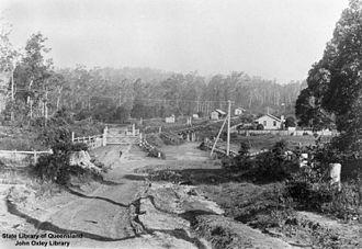 Eudlo railway station - View over the Eudlo railway station, 1907