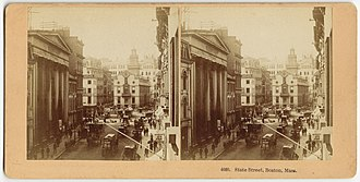 Merchants Exchange (Boston, Massachusetts) - Image: State Street, Boston, Mass