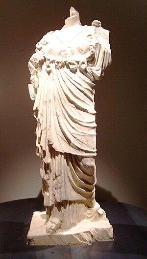 Sanctuary of Minerva - Image: Statua di Minerva Museo Nazionale di Valle Camonica Cividate Camuno (Foto Luca Giarelli)