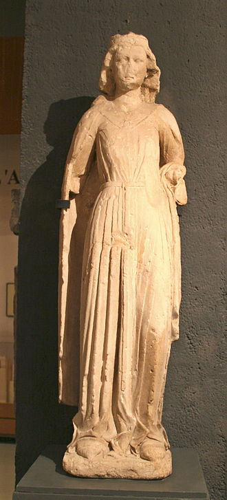 Beatrice of Provence - Statue of Beatrice of Provence, 13th century. Currently displayed at the Musée d'histoire de Marseille.