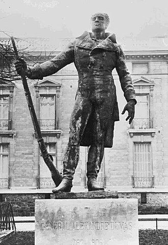 Statue of General Thomas-Alexandre Dumas destroyed by the Nazis during the occupation of Paris Statue of General Thomas-Alexandre Dumas.jpg