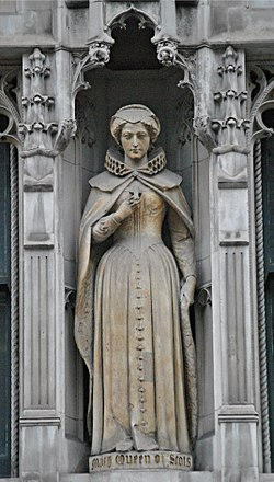 Statue of Mary, Queen of Scots, Fleet Street, London.jpg