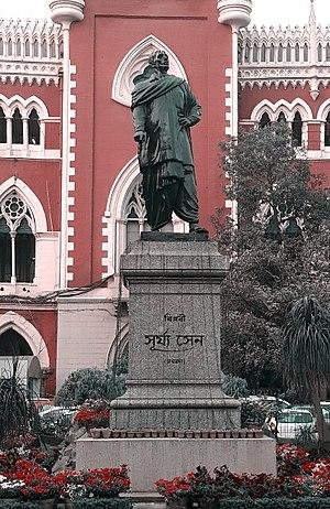 Surya Sen - Statue of Surya Sen in front of Calcutta High Court
