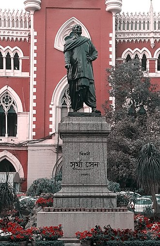 Surya Sen - Statue of Surya Sen in front of Calcutta High Court