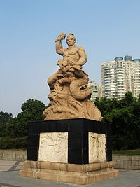 Statue of Zhou Chu in Yixing 2013-10.JPG