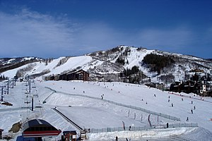 Steamboat Springs, Colorado - The ski resort at Steamboat Springs