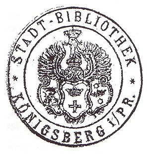 Königsberg Public Library - Stamp of the library