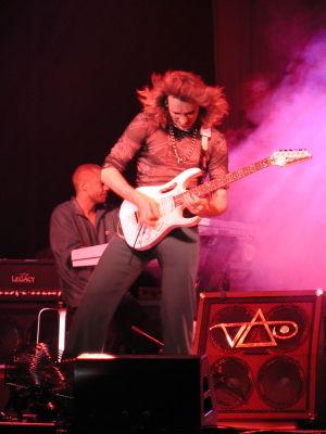 Steve Vai with Ibanez JEM