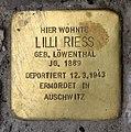 Stolperstein Augsburger Str 29 (Charl) Lilli Riess.jpg