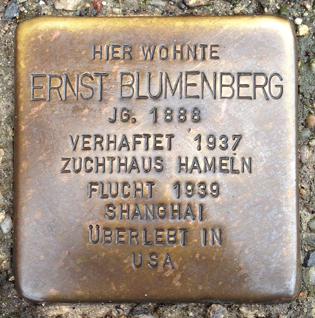 Stolperstein Bad Nenndorf Hauptstraße 14 Ernst Blumenberg