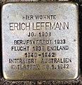 Stolperstein Kleve Hagsche Straße 9-11 Erich Leffmann.jpg