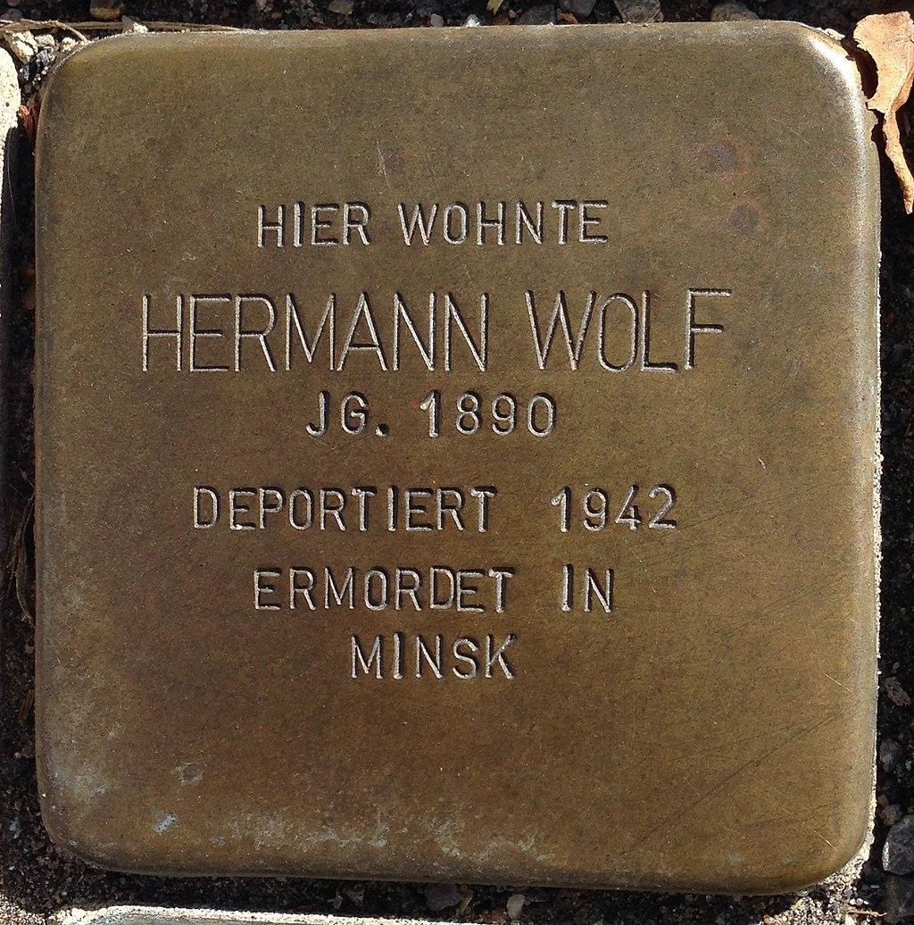 Stolperstein Puderbach Mittelstraße 27 Hermann Wolf