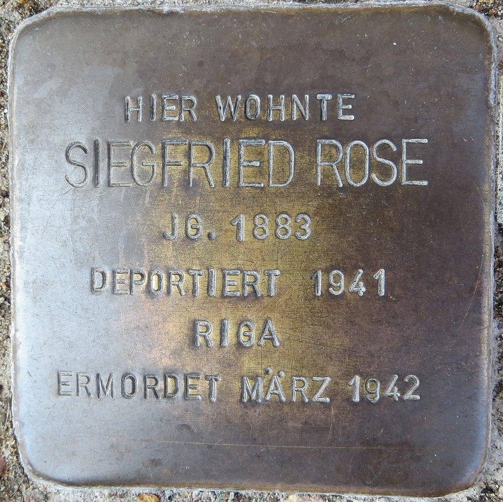 Stolperstein Rose, Siegfried - Mittelstr. 10, Sehnde.jpg