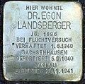 Stolperstein Stierstr 5 (Friedn) Egon Landsberger.jpg