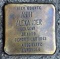 Stolperstein Turiner Str 46 (Weddi) Anni Alexander.jpg