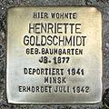 Stolperstein Verden - Henriette Goldschmidt (1877).jpg