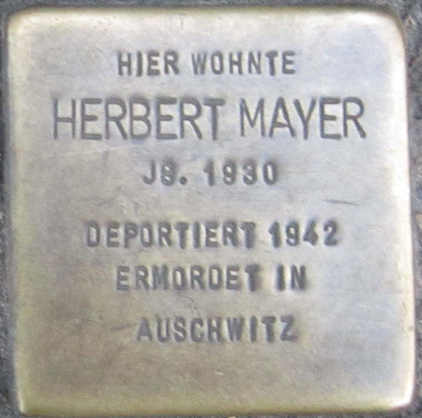 File:Stolperstein Würzburg Mayer Herbert.jpeg