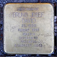 Stolperstein für Bruno Josef David (1920) in Memmingen.jpg