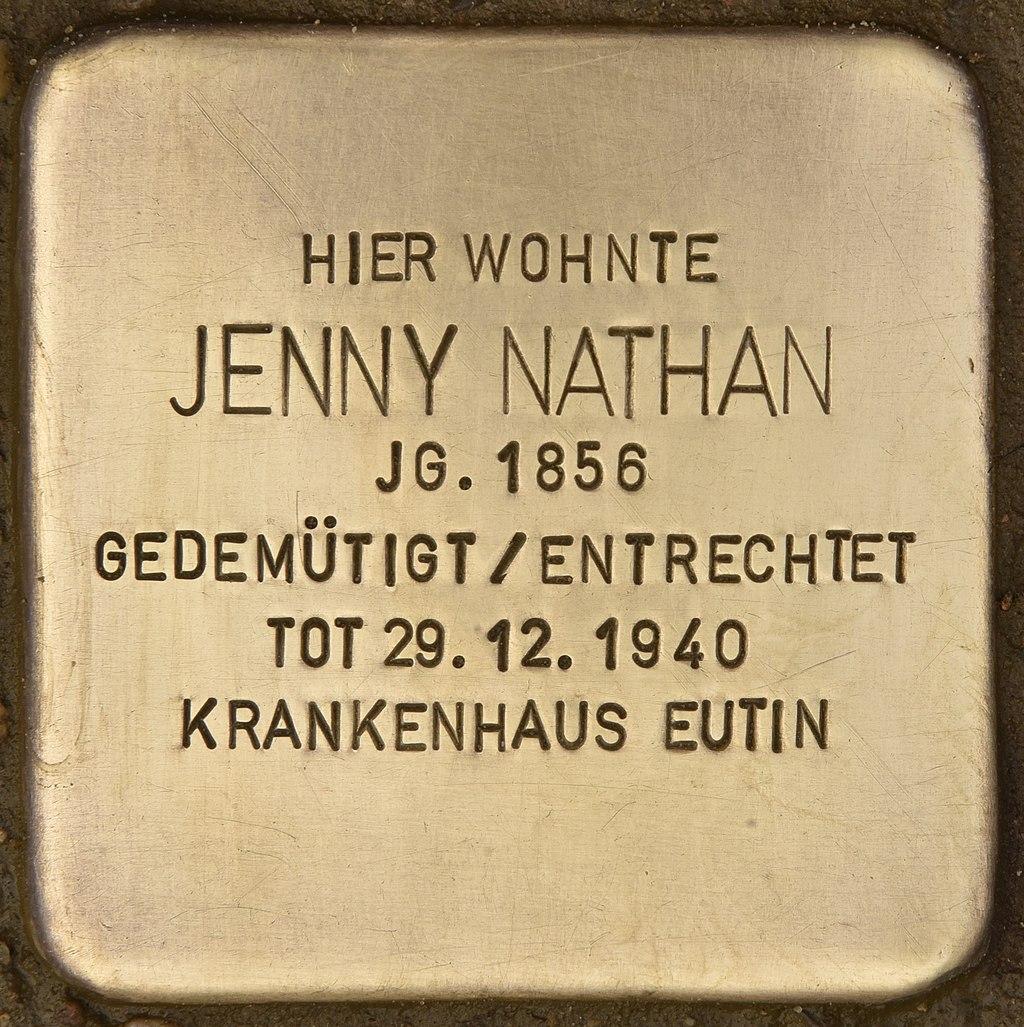 Stolperstein für Jenny Nathan (Eutin).jpg