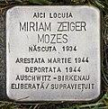 Stolperstein für Miriam Zeiger Mozes.JPG