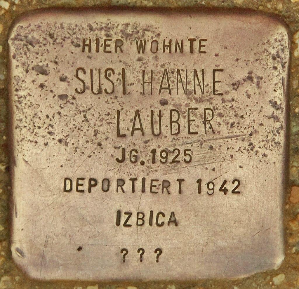 Stolperstein für Susi Hanne Lauber (Marktbreit).jpg
