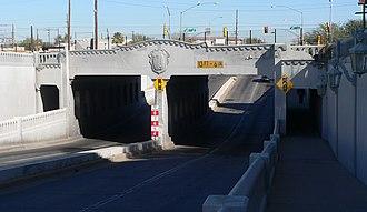 U.S. Route 80 in Arizona - 1939 Stone Avenue underpass in Tucson