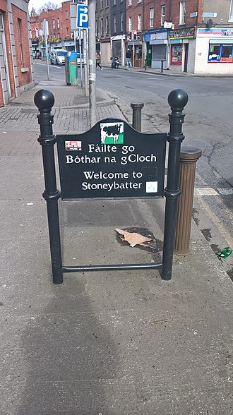 Stoneybatter - Welcome to Stoneybatter sign
