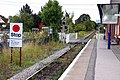 Stop board and level crossing at Cookham Station - geograph.org.uk - 1500435.jpg