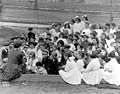 Story hour at Collins Playground, ca 1912 (MOHAI 6171).jpg
