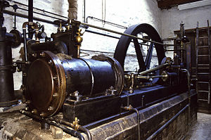 Steam engine - A mill engine from Stott Park Bobbin Mill, Cumbria, England