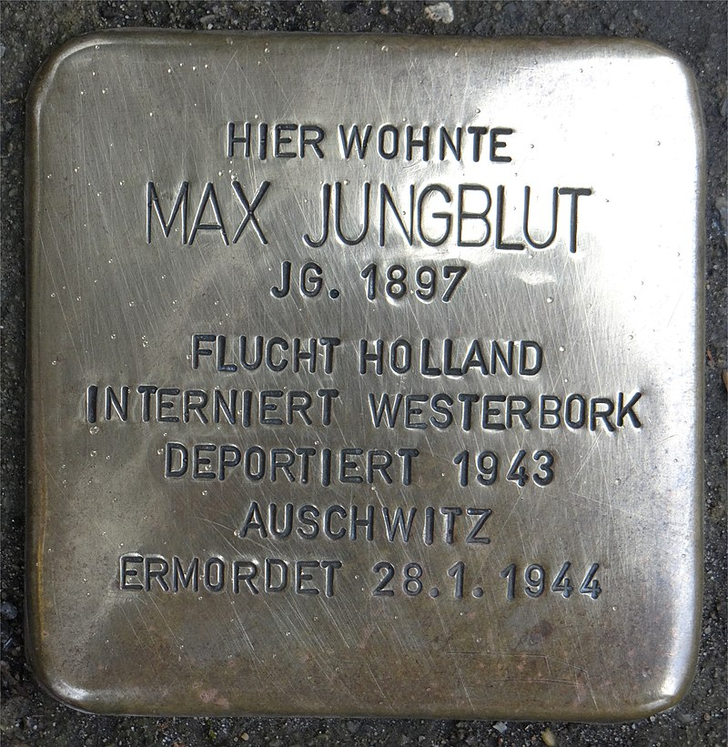 Stromberg Stolperstein Staatsstraße 11 Max Jungblut.jpg
