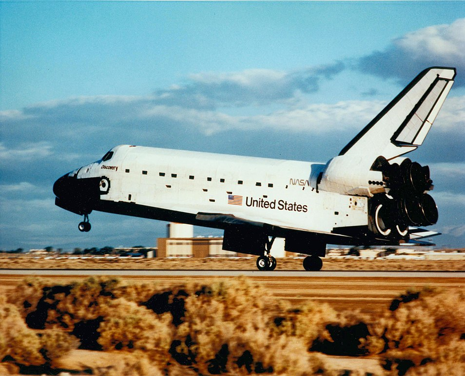 Image result for sts-31 landing