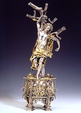 Saint Sebastian - Reliquary of Saint Sebastian, around 1497 (Victoria and Albert Museum, London)