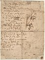 Study of the Christ Child and the Hand of the Madonna. Verso; Profile of a Man MET DP802098.jpg