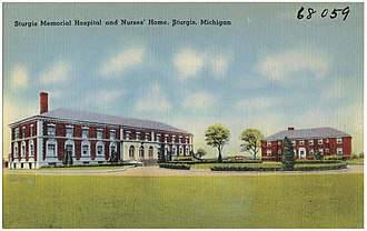 Sturgis, Michigan - The Sturgis Memorial Hospital was built in 1925 and was updated for medical offices in 1992.