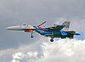 "Su-27 Aerobatic team ""Russian Knights"" (4256986341).jpg"