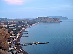 The Sudak Bay in the evening.