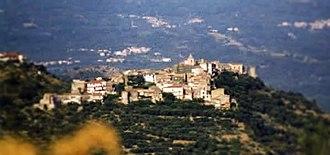 """Suio - A view of Suio Alto (""""Upper Suio"""")"""