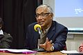 Sukanta Chaudhuri - Panel Discussion - Collaboration with Academic Institutes for the Growth of Wikimedia Projects in Indian Languages - Bengali Wikipedia 10th Anniversary Celebration - Jadavpur University - Kolkata 2015-01-10 3445.JPG