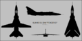 Sukhoi Su-24M four-view silhouette.png