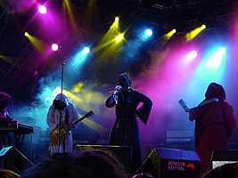 Sunn O))) performing at the 2005 Roskilde Festival