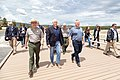 Superintendent Cam Sholly walks with Vice President Mike Pence and Secretary of the Interior David Bernhardt at Old Faithful (2) (48080920038).jpg