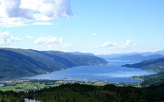 Surnadal - View of the Surnadalsfjorden