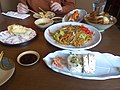 Sushi, tempura, yakisoba and katsudon by VeryBadLady.jpg