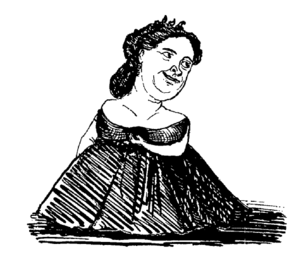 Suzanne Lagier - Drawing (caricature) of Lagier by Louis Lemercier de Neuville