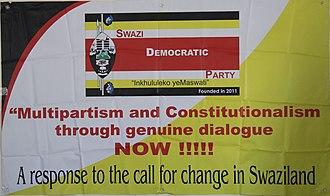Swazi Democratic Party - Image: Swadepa Banner