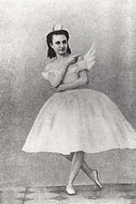 Anna Sobeshchanskaya as Odette in Julius Reisinger's original production of Swan Lake, Moscow, 1877