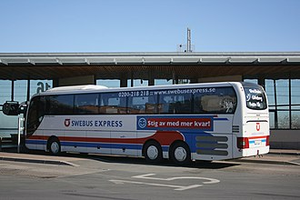Swebus Express - MAN Lion's Top Coach in old Swebus Express livery in Jönköping in March 2007.